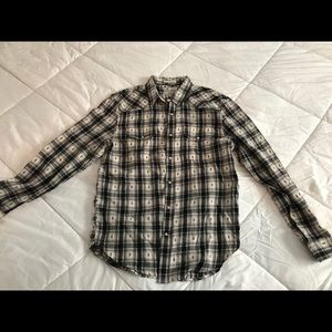 NWT Lucky Brand patterned flannel button up